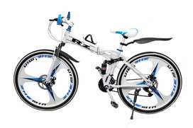 New Folding Cycle  With 3 - Spoke Rim With 21 Gears