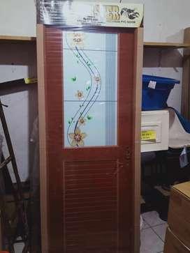 pintu kamar mandi pvc lux half glass