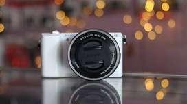 Sony a5100 White SC minim Mulus Fullset bonus tas dan memory