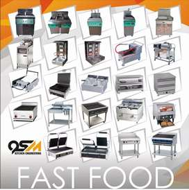 Fryer 2 tube fast food pizza equipment