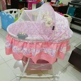 Baby Box Ranjang Tempat Tidur Bayi Pliko Bassinet Oval 608 AN / Pink