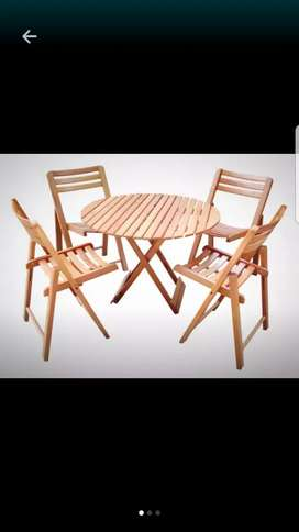 Out Door Table With 4 Chairs Cafe Restaurant ETc