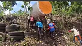 Tandon air 3000 liter Kebumen bahan plastik hdpe tiga lapis