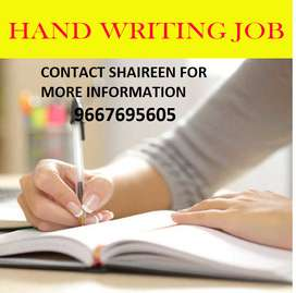 HANDWRITING WORK FROM HOME -PART TIME JOB AVAILABLE