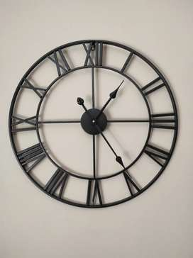 Infinity Black Iron Decorative Wall Clock For Sale