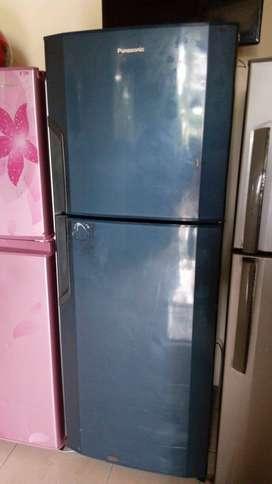 Jual kulkas murah meriah 2  pintu panasonic normal siap pakai langsung