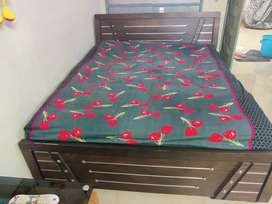 Queen size box bed with  mattress 6× 5