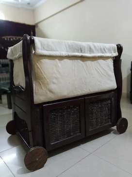 Baby Wooden Cot With Storage Space