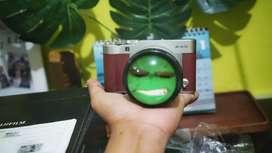 Kamera mirrorless fujifilm XA-3 Brown maroon fullset