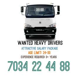 WANTED HEAVY DRIVERS