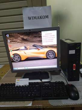 PC SLIM murah Lenovo core 2 duo 2gb ddr3 hdd 160gb dvd WIFI second