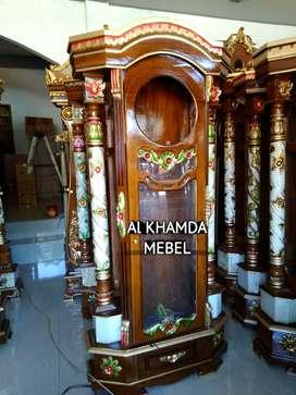 Ready lemari Jam Material Kayu Jati #51