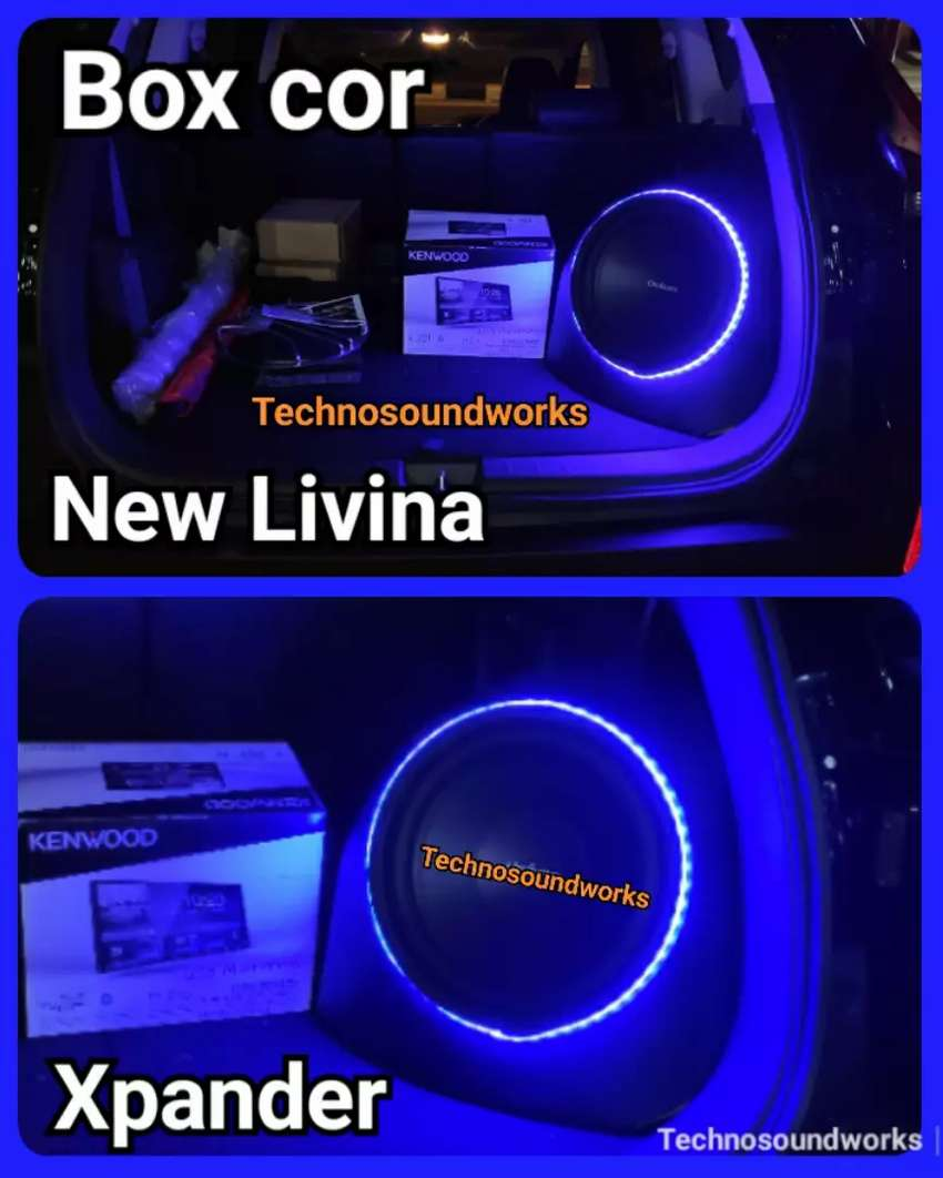 Box cor sudut bok fiber livina xpander for paket sound tv subwoofer 0