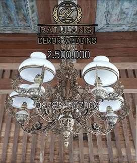 LAMPU GANTUNG ANTIK CABANG 5 HIAS JOGLO CAFE MASJID