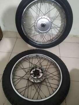 Yamaha Rx 100 brand new tyre and rim