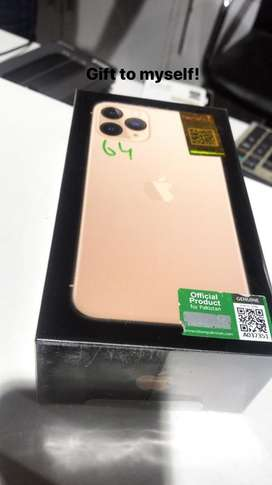 64gb new iphone11pro 10/10 condition for sale demand 185