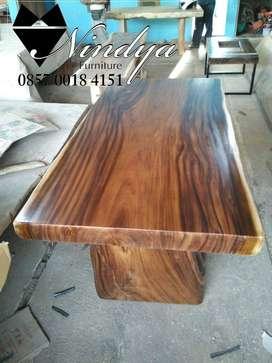 Furniture Meja Makan Trembesi code S44M meja kayu tanpa sambung