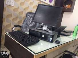 """Branded Dell Core 2 duo Computer set Ram 2gb Hdd 320gb 17""""Lcd Warnty"""