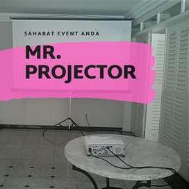 Pusatnya Sewa Screen Layar Infocus Proyektor LCD24 Jam