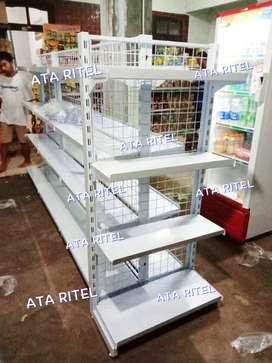 Rak kelontong toko supermarket jual gondola display minimarket