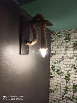 Hanging rope light handmade Brand new  - orders are taken