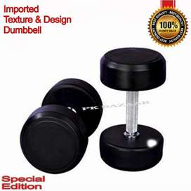 Pair of Ultra High Quality Stylish Design Iron Rubber Coated Dumbbell
