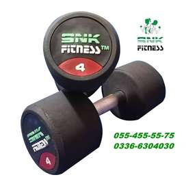 SNK FITNESS  Rubber Coated Dumbbell