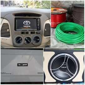 Paket audio TV buat mobil Toyota Innova