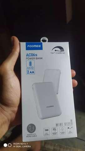 Powerbank Foomee fast charging 2.4A