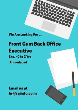 Front cum Back Office Executive 6 month - 2 Yrs