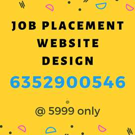JOB PLACEMENT WEBSITE DESIGN only @ 5999