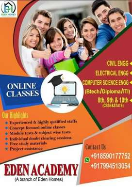 Online and offline tution for btech and HS and project asistance