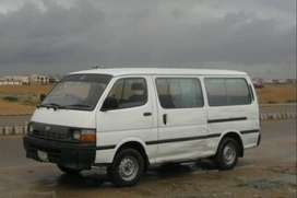 Hiace Van Available For booking/rent.