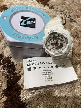 DIJUAL!!! jam tangan digital merk BABY-G warna white