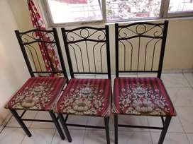 Four chairs & dining table