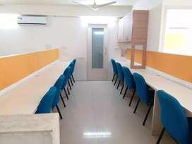 1244Sq Ft IT Setap Fully Furnished Office Space On Rent Prahladnagar