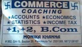 Commerce tution #502 Gh-19 sec 20