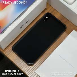 iPhone X 64Gb Space Gray Fullset Original Mulus Murah Garansi