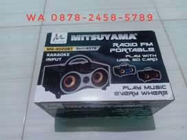 Speaker Wireless Bluetooth MITSUYAMA MS-4020 BT RADIO KARAOKE.