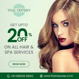 Discount offer on spa, hair & beauty services