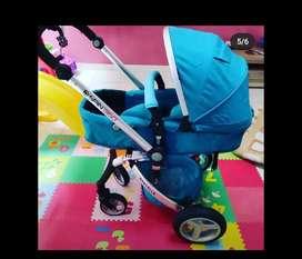 Jual stroler babyelle spin 360 warna biru