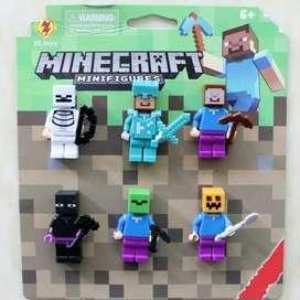 Figure Set Minecraft / Topper Cake Kue Minecraft Anak