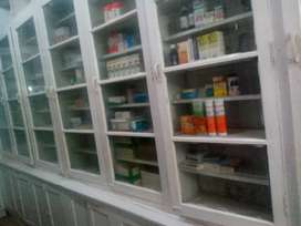 Shop furniture suitable for medical store general and karyana store