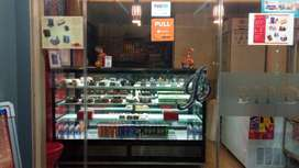 Bakery Counter Display with outdoor AC unit