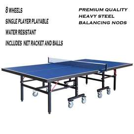 Table Tennis 8 wheels brand new (Cash on Delivery)