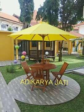 Meja payung meja taman set kursi @kayu jati.
