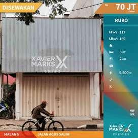 Disewakan ruko lokasi strategis di Jl. Agus Salim Malang