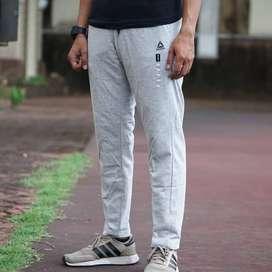 ORIGINAL Rebook Celana Jogger Sweat Pants Training Abu-abu Hitam Putih