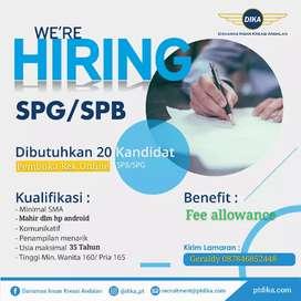 Lowongan kerja SPG/SPB