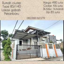Dijual rumah cluster type 85/140 gobah